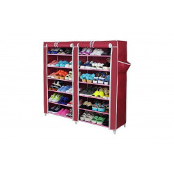 Double Row Shoe Rack With Cover,
